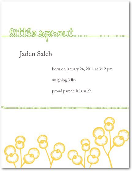 Jaden's Birth Announcement